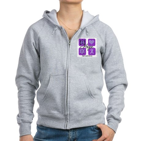 Hope Hodgkin's Lymphoma Women's Zip Hoodie
