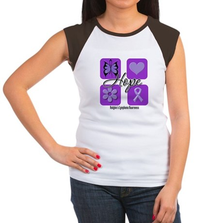 Hope Hodgkin's Lymphoma Women's Cap Sleeve T-Shirt