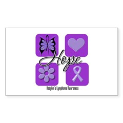 Hope Hodgkin's Lymphoma Rectangle Sticker 50 pk)