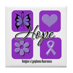Hope Hodgkin's Lymphoma Tile Coaster