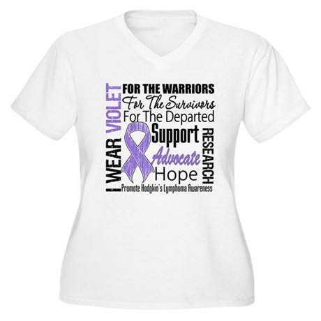 Tribute Hodgkin's Disease Women's Plus Size V-Neck