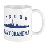 Proud Navy Grandma Small Mugs