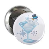 "Snowman Martini 2.25"" Button"