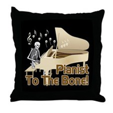 Bone Pianist Throw Pillow