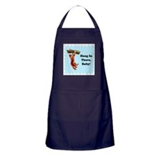 Hang In There, Friday's Comin Apron (dark)
