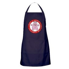 Hippo for Christmas Apron (dark)
