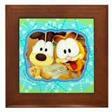 Garfield Goofy Faces Framed Tile
