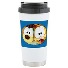 Garfield Goofy Faces Ceramic Travel Mug