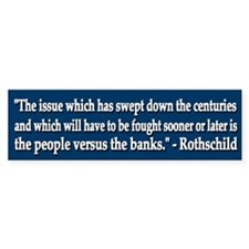 People vs Bankers - Bumper Bumper Sticker