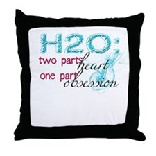 Funny Swim meet Throw Pillow