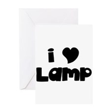 I Love Lamp Greeting Card