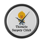Thoracic Surgery Chick Large Wall Clock