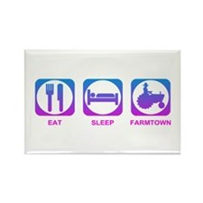 Eat Sleep FarmTown Rectangle Magnet