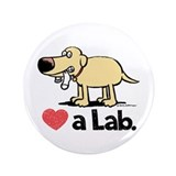 "Love a Lab (Yellow)- 3.5"" Button"