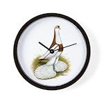 Australian Saddleback Pigeon Wall Clock