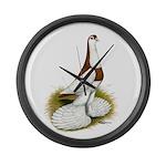 Australian Saddleback Pigeon Large Wall Clock