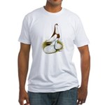 Australian Saddleback Pigeon Fitted T-Shirt