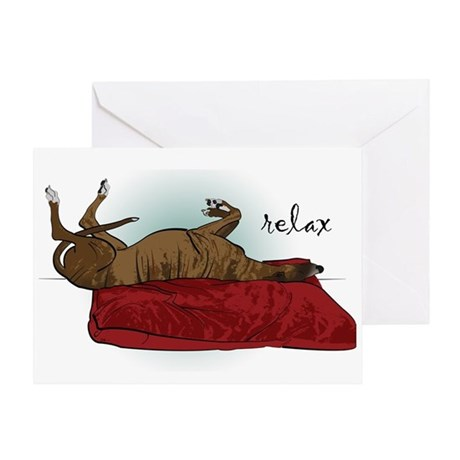 Relax Greyhound Greeting Card