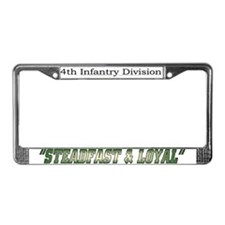 "4th inf div ""Steadfast and lo License Plate F"