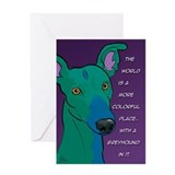 Colorful Greyhound Greeting Card