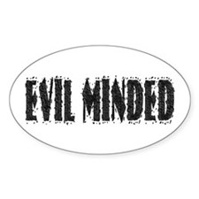 Evil Minded Oval Decal