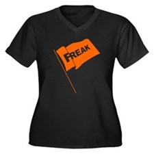 Freak Flag Women's Plus Size V-Neck Dark T-Shirt