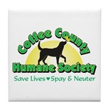 Unique Humane society Tile Coaster