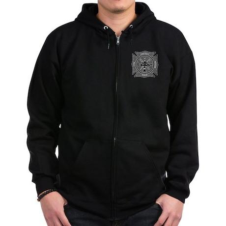 Firefighter Maltese Cross Zip Hoodie (dark)