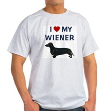 I (HEART) MY WIENER T-Shirt