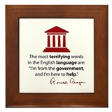 Reagan Quote Framed Tile