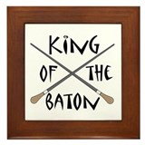 King or Queen Of The Baton Framed Tile