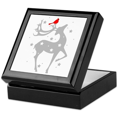 Winter Reindeer Keepsake Box