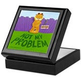 "Garfield ""Not My Problem"" Keepsake Box"