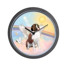St. Bernard Angel Dog Wall Clock