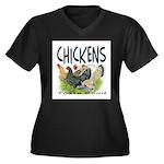 Chickens Taste Good! Women's Plus Size V-Neck Dark