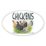 Chickens Taste Good! Oval Sticker