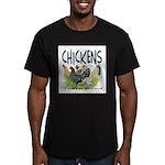 Chickens Taste Good! Men's Fitted T-Shirt (dark)