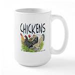 Chickens Taste Good! Large Mug