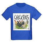 Chickens Taste Good! Kids Dark T-Shirt