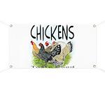 Chickens Taste Good! Banner