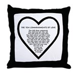 Ten Commandments of Love Throw Pillow