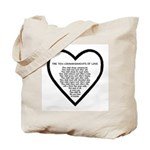 Ten Commandments of Love Tote Bag