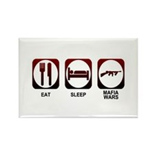 Eat Sleep Mafia Rectangle Magnet