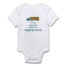 New Addition to a Logging Fam Infant Bodysuit