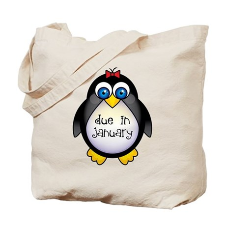 January Penguin Maternity Tote Bag