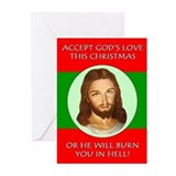 Accept God's Love or Else! 10 Pack Christmas Cards