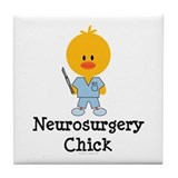 Neurosurgery Chick Tile Coaster