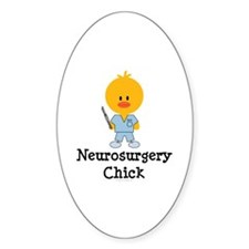 Neurosurgery Chick Oval Sticker (10 pk)