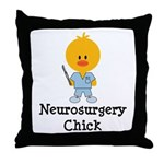 Neurosurgery Chick Throw Pillow
