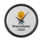 Neurosurgery Chick Large Wall Clock